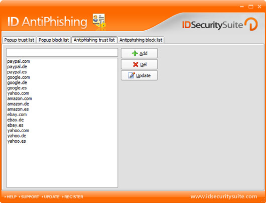 ID AntiPhishing Screenshot