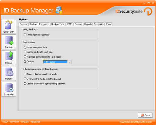ID Backup Manager Screenshot