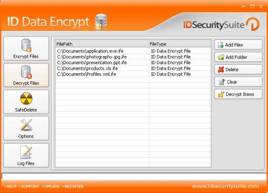 ID Data Encrypt Screenshot