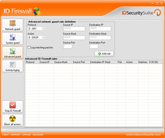 ID Firewall Screenshot