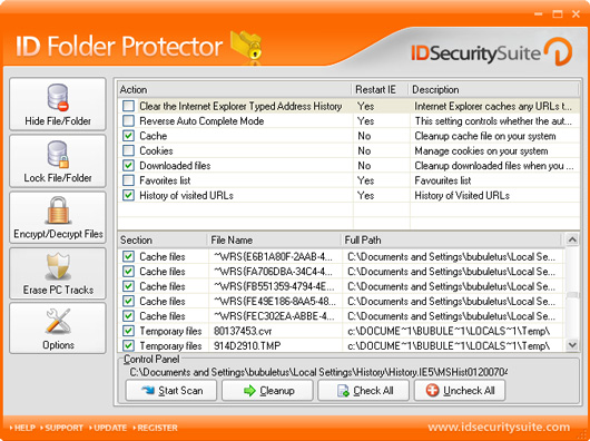 ID Folder Protector Screenshot