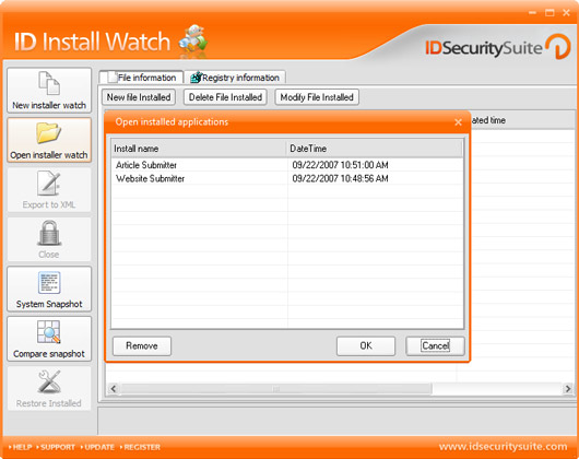 ID Install Watch Screenshot