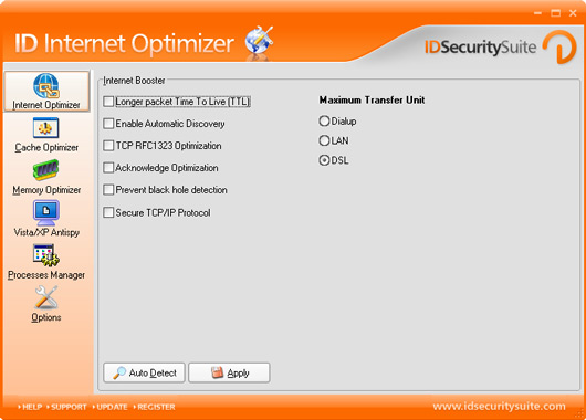 help internet optimizer com: