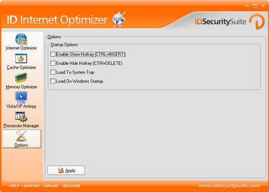 ID Internet Optimizer Screenshot