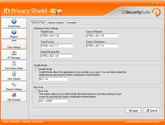 ID Privacy Shield Screenshot