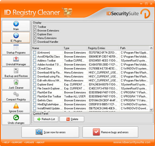 ID Registry Cleaner Screenshot