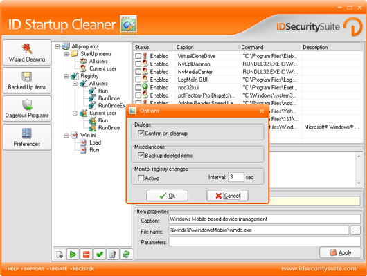 ID Startup Cleaner Screenshot