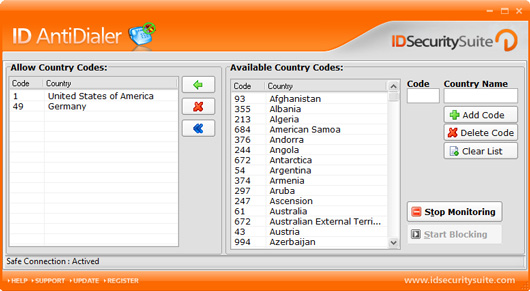 Click to view ID AntiDialer 1.2 screenshot