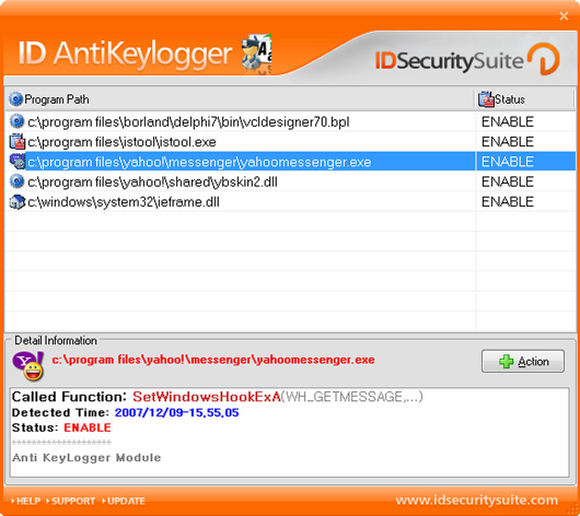 ID AntiKeylogger screen shot