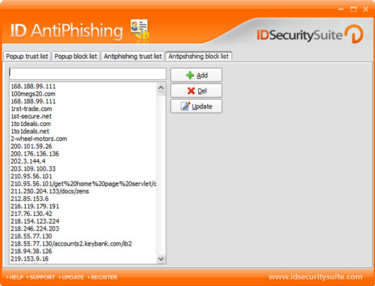 Click to view ID AntiPhishing 1.2 screenshot
