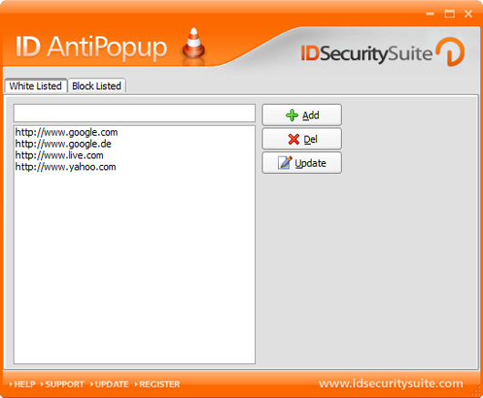 Click to view ID AntiPopup 1.2 screenshot