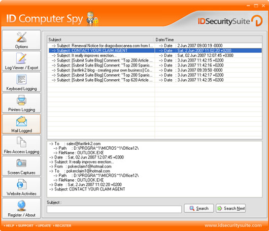 Click to view ID Computer Spy 1.2 screenshot