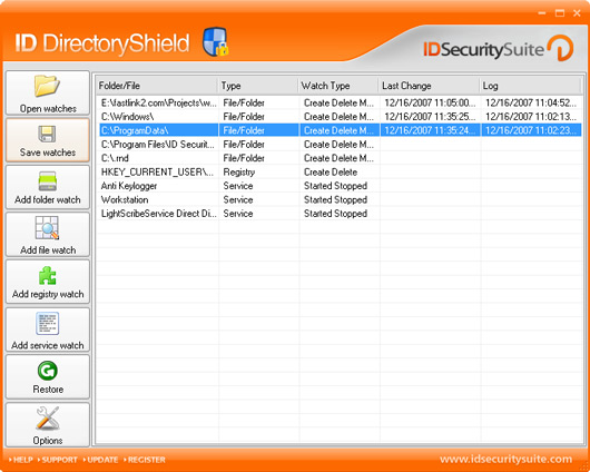 Click to view ID Directory Shield 3.5 screenshot