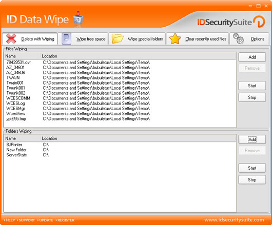 Click to view ID Data Wipe 1.2 screenshot