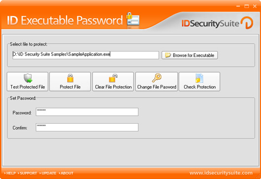 Click to view ID Executable Password 1.2 screenshot