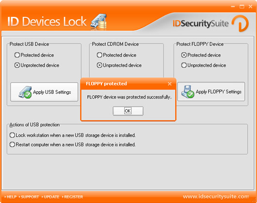 ID Devices Lock ensures your data safety.