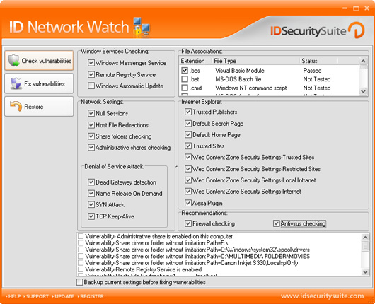 ID Network Watch screenshot