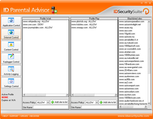 ID Parental Advisor screen shot