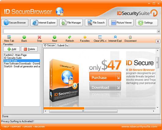 Click to view ID Secure Browser 3.5 screenshot
