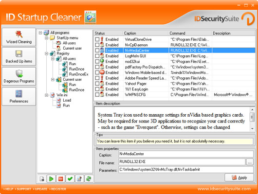ID Startup Cleaner screen shot