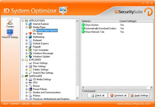 ID System Optimizer screen shot